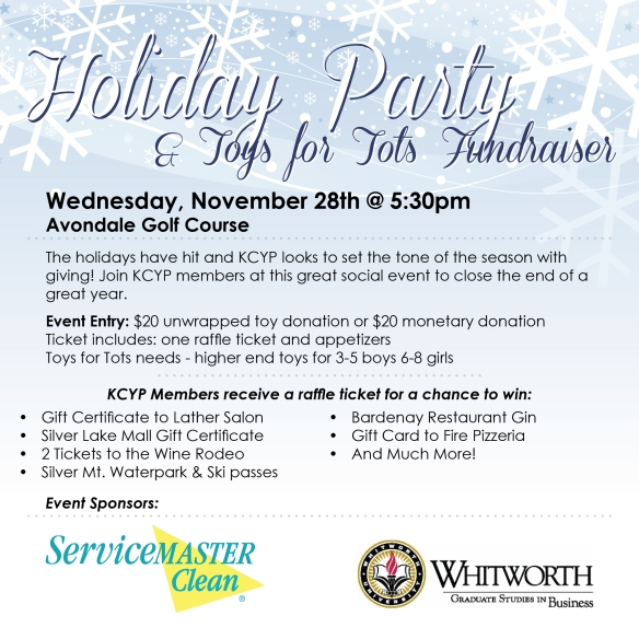 KCYP Holiday Party & Toys for Tots Fundraiser, Nov. 28th 2012